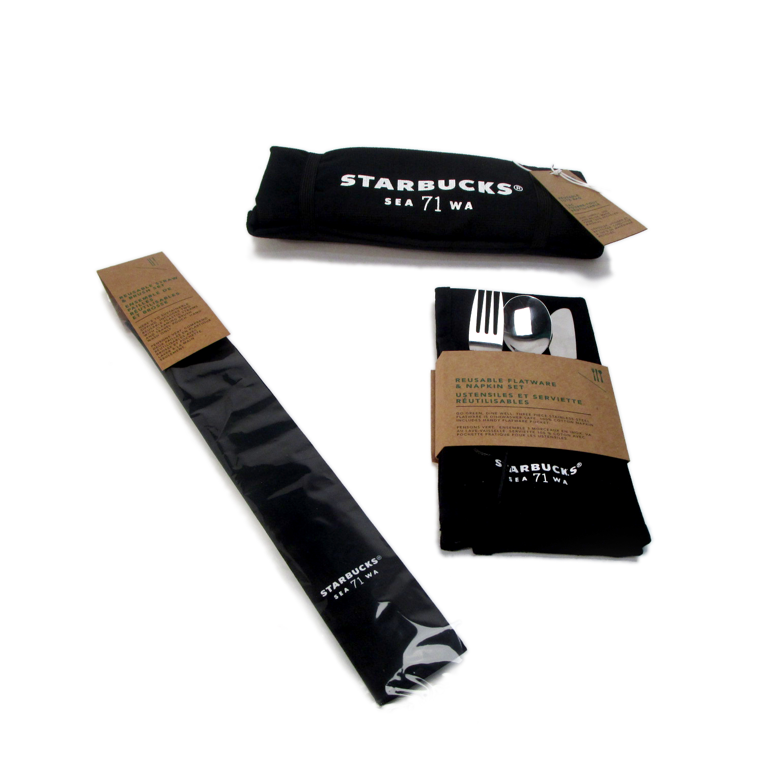 Reusable straw for Strabucks Sustainability collection, Straw Pouch - Polyester