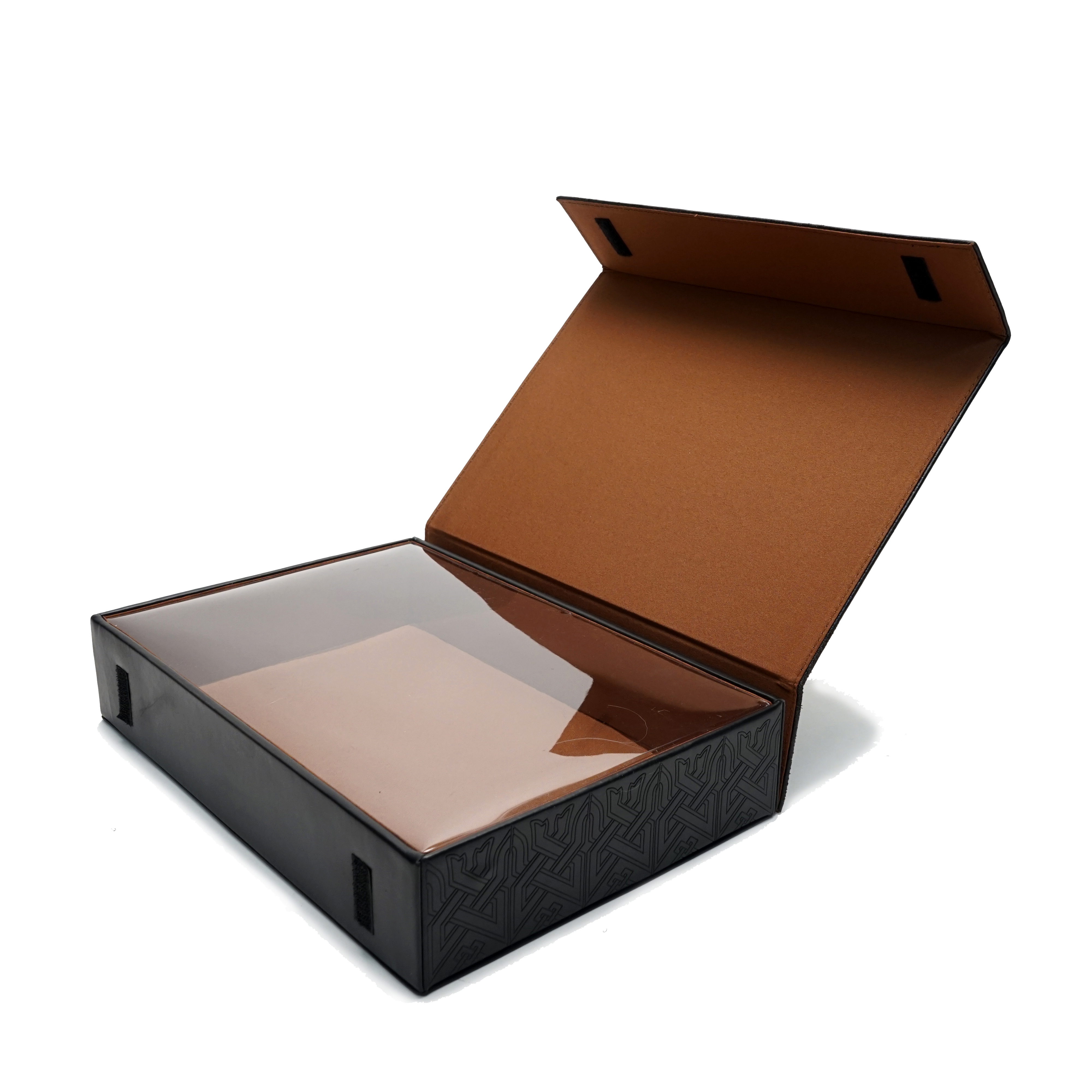 Covered folding box